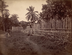 [Stockaded village, Burma.]